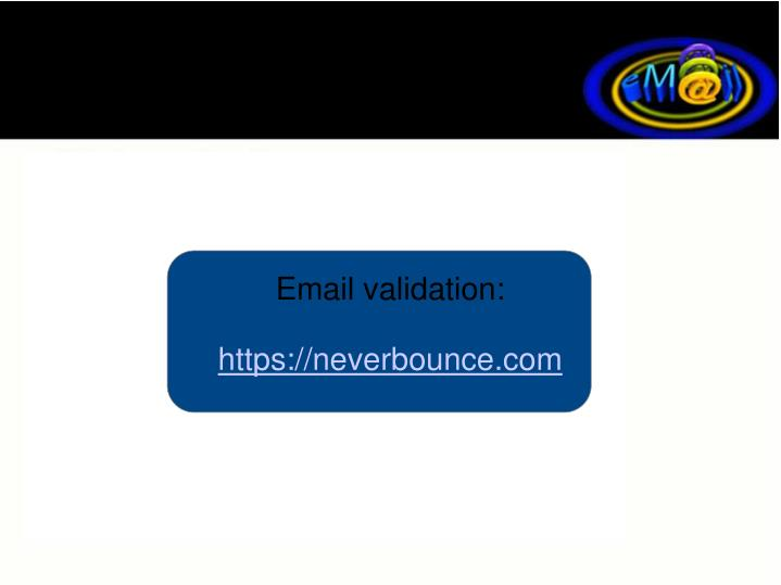Email validation: