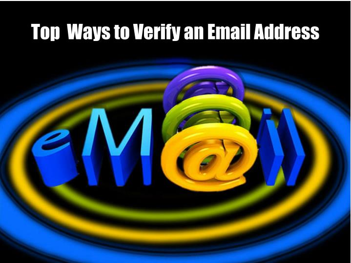 top ways to verify an email address