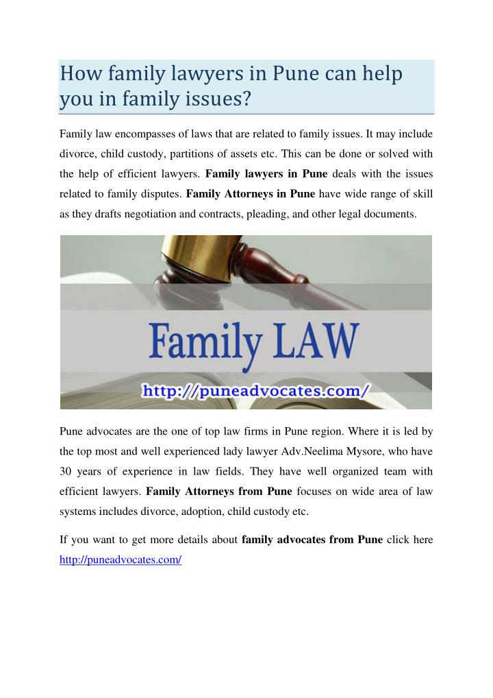 How family lawyers in Pune can help