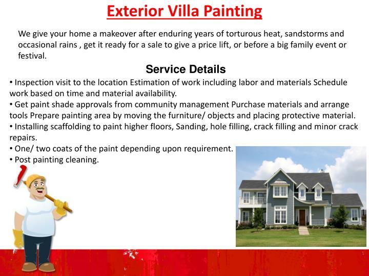 Exterior Villa Painting