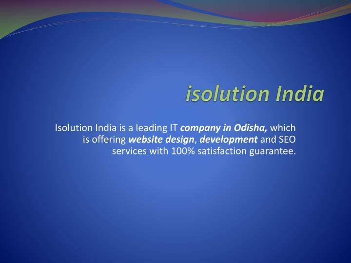I solution india