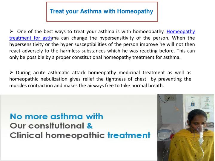 Treat your Asthma with Homeopathy
