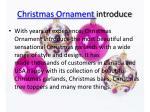 christmas ornament introduce