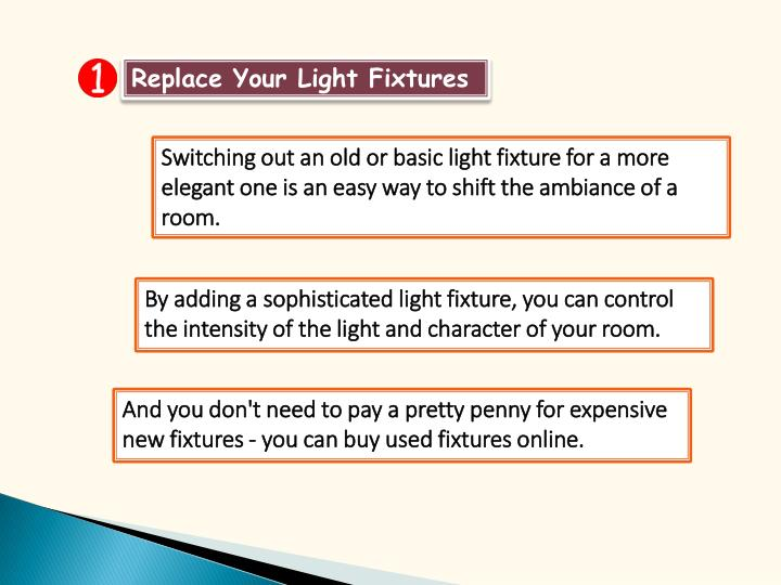 Replace Your Light Fixtures