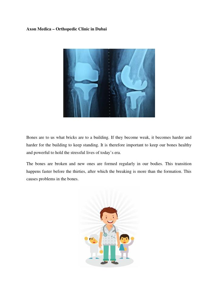 Axon Medica – Orthopedic Clinic in Dubai