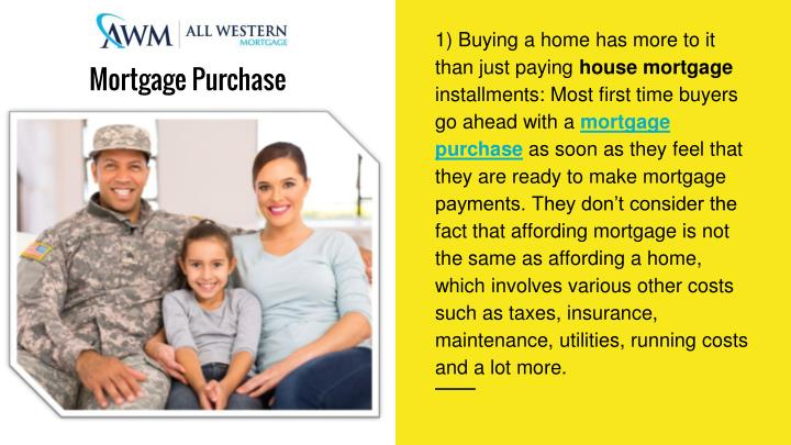 1) Buying a home has more to it than just paying