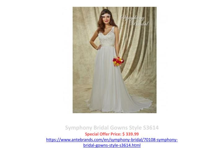 Symphony Bridal Gowns Style S3614
