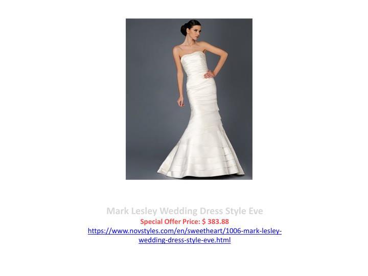 Mark Lesley Wedding Dress Style Eve