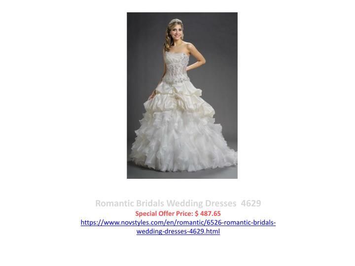 Romantic Bridals Wedding Dresses  4629
