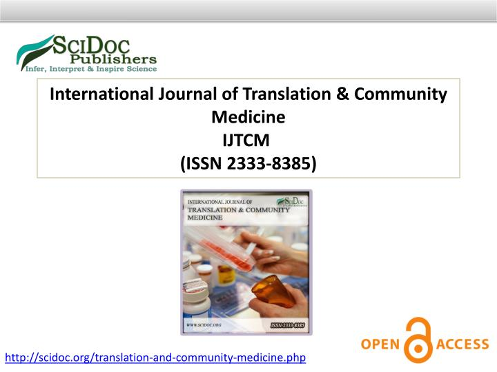 International Journal of Translation & Community Medicine
