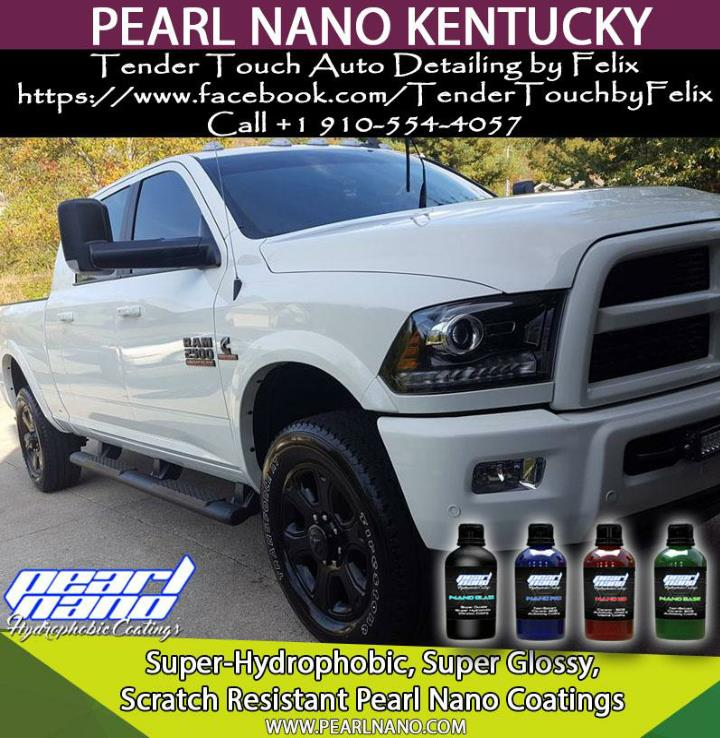 Tender touch auto detailing by felix in kentucky is now pearl nano installer