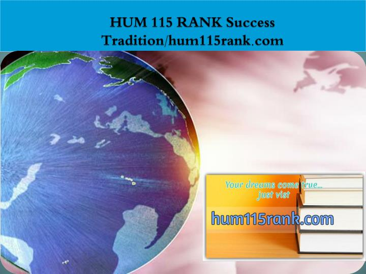 Hum 115 rank success tradition hum115rank com