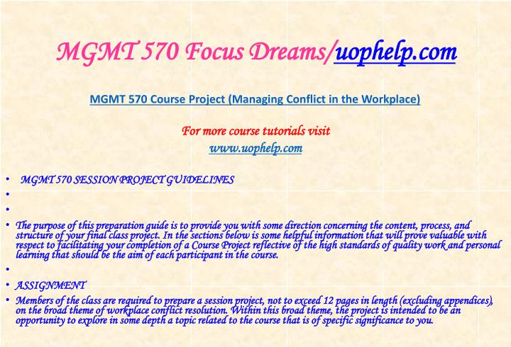Mgmt 570 focus dreams uophelp com1