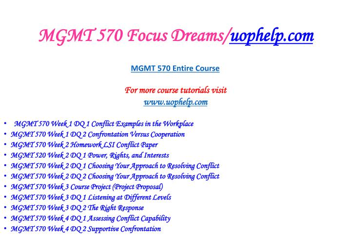 Mgmt 570 focus dreams uophelp com2