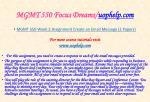 mgmt 550 focus dreams uophelp com1
