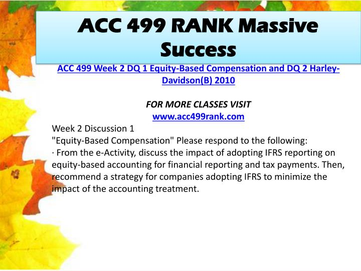 ACC 499 RANK Massive Success