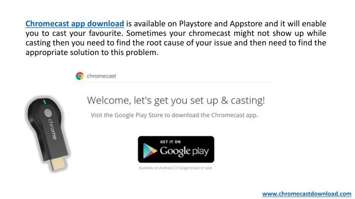 Chromecast app download