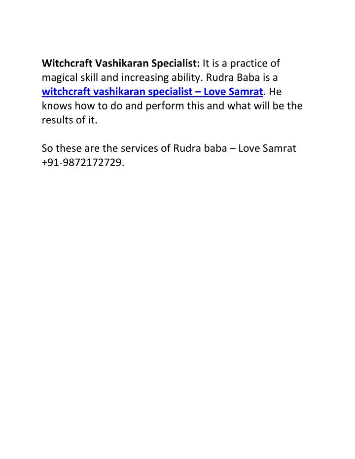 Witchcraft Vashikaran Specialist: