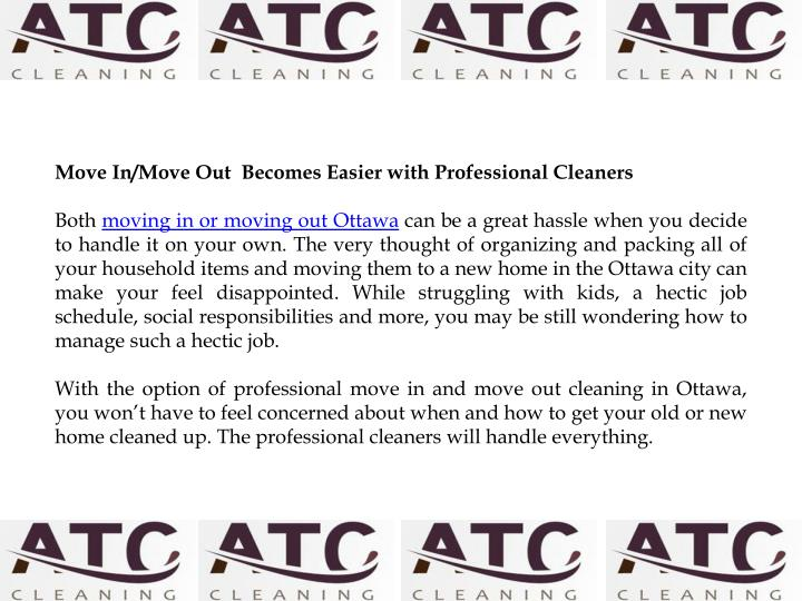 Move In/Move Out  Becomes Easier with Professional Cleaners