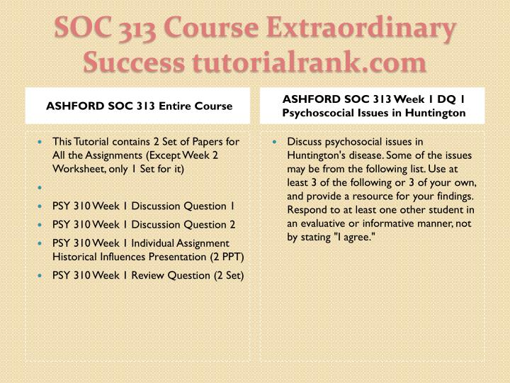 Soc 313 course extraordinary success tutorialrank com1
