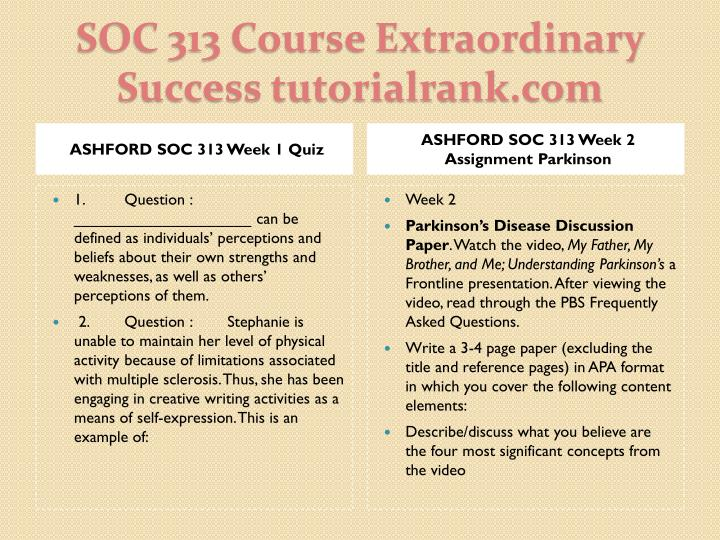 Soc 313 course extraordinary success tutorialrank com2