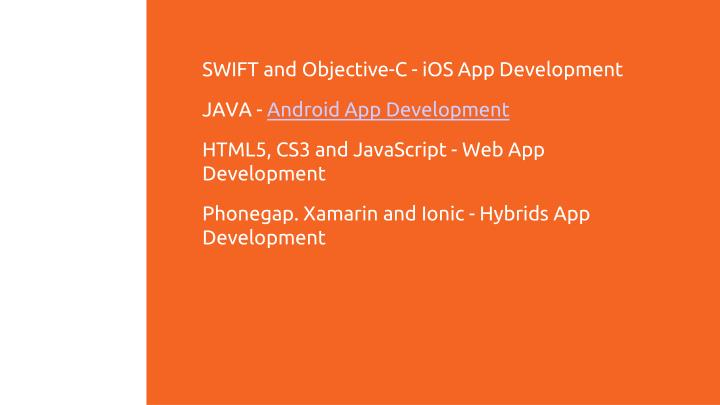 SWIFT and Objective-C - iOS App Development