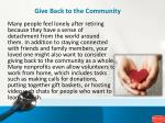 give back to the community