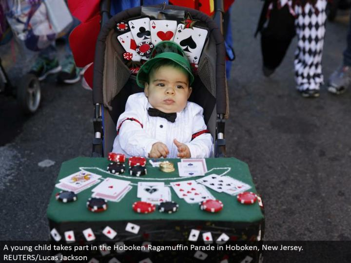 A youthful tyke participates in the Hoboken Ragamuffin Parade in Hoboken, New Jersey. REUTERS/Lucas Jackson