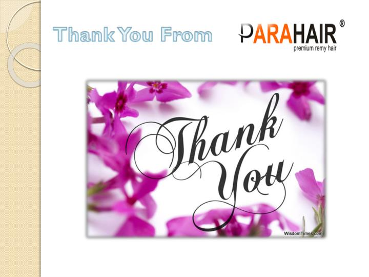 Thank You From