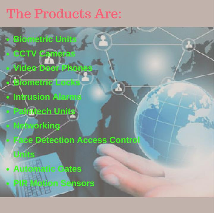 The Products Are: