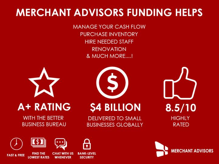 We are small business funding experts we are merchant advisors
