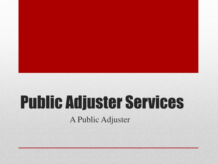 public adjuster services