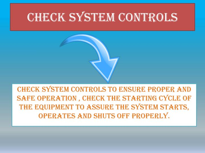 Check System Controls