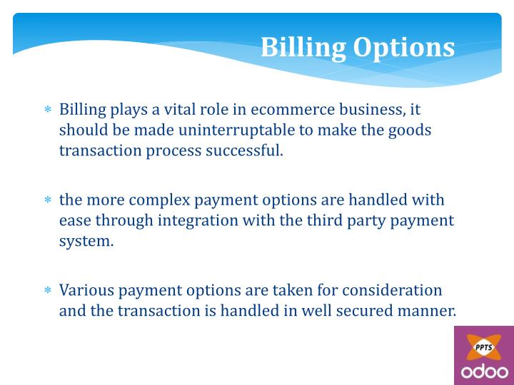 Billing Options