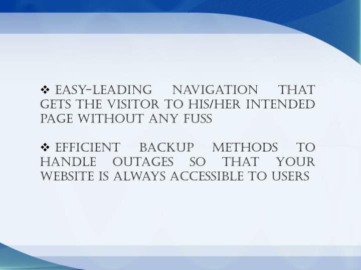 Easy-leading