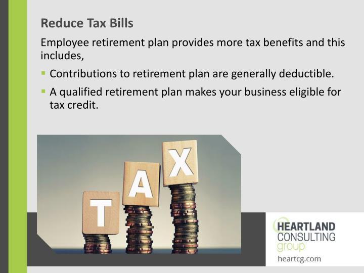 Reduce Tax Bills