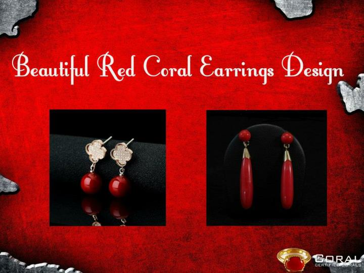 Red coral earring designs