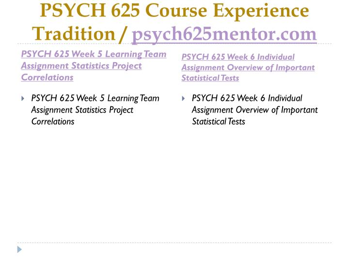 PSYCH 625 Course