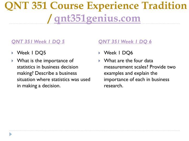 QNT 351 Course