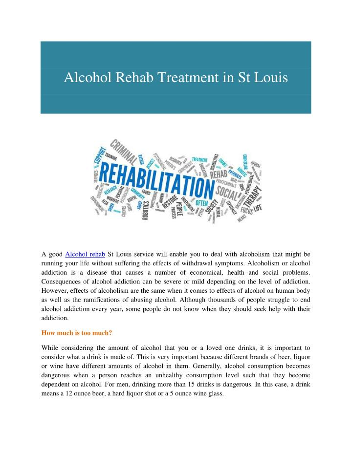 Alcohol Rehab Treatment in St Louis