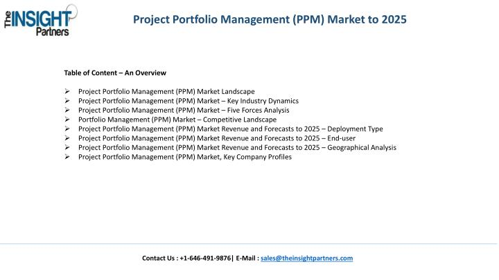 Project Portfolio Management (PPM) Market to 2025