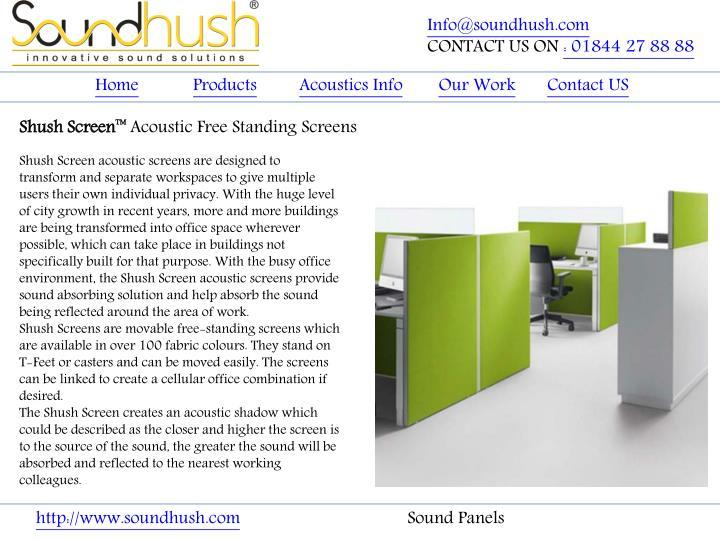 Info@soundhush.com
