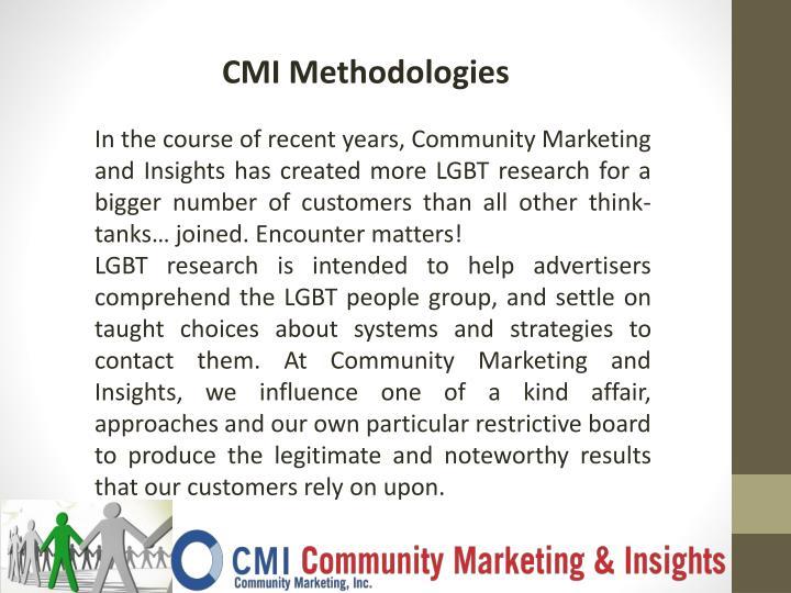 CMI Methodologies