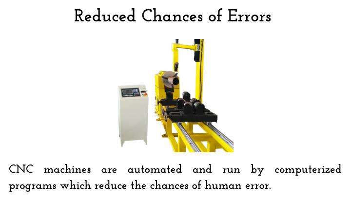 Reduced Chances of Errors