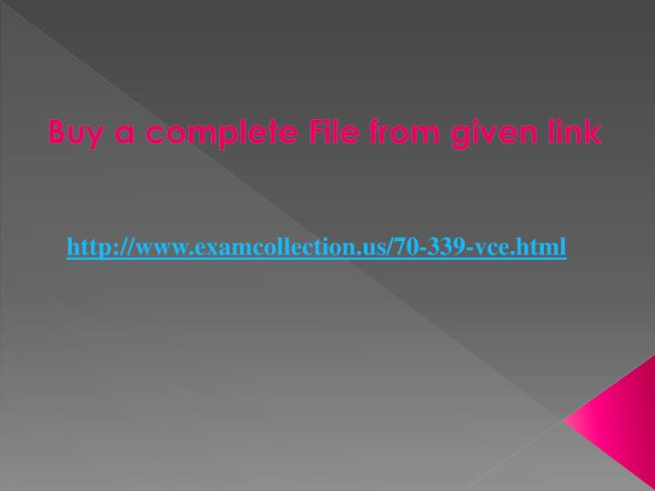 Buy a complete File from given link