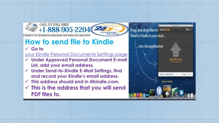 How to send file to Kindle