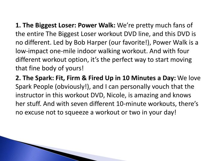 1. The Biggest Loser: Power Walk: