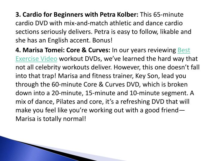 3. Cardio for Beginners with Petra