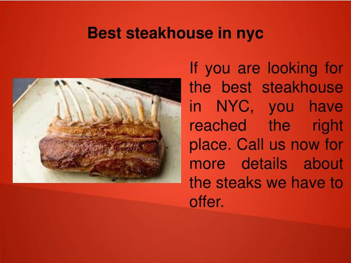 Best steakhouse in nyc