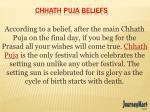 chhath puja beliefs